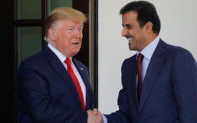 ترامب وأمير قطر