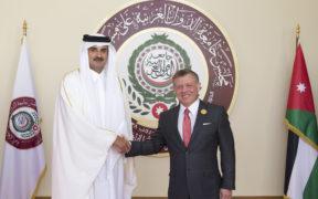 ملك الأردن وأمير قطر