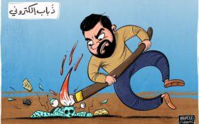 رسام الكاريكاتير الفلسطيني محمود عباس